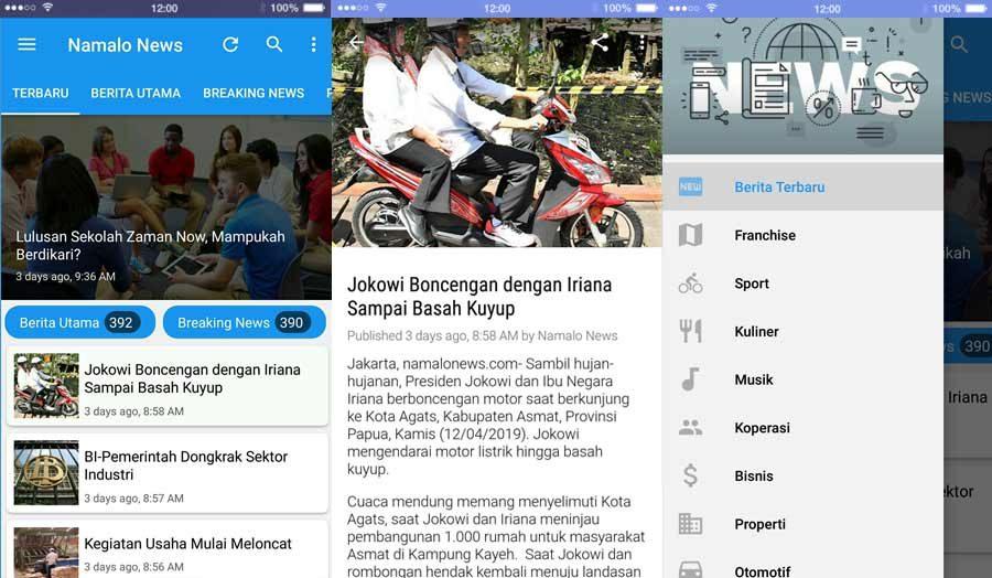 aplikasi namalonews revo app